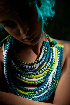 Snake-Like Fabric Jewelry - The Nadia Dafri 2012 Collection Compliments its Wearer (GALLERY)