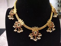 Simple & Beautiful Guttapusalu Necklace in Collar Choker Style in Silver and Gold Plated-Traditional and Temple Indian Jewelry Silver Jewellery Indian, Indian Wedding Jewelry, Gold Jewellery Design, Bridal Jewelry, Gold Jewelry, Beaded Jewelry, Designer Jewelry, Jewellery Box, Jewellery Shops