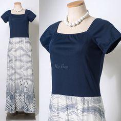 Vintage maxi dress 60s Maxi Dress Vintage by TrendyHipBuysVintage