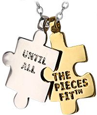 Until All The Pieces Fit™ Autism Awareness Two-Tone Necklace at The Autism Site
