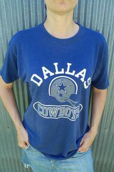 Super Soft Vintage Dallas Cowboys Blue T shirt by FunkyOldSoul, $24.00