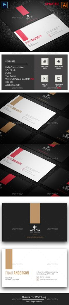 29 best business card design ispiration images on pinterest ekdom business card agency anchors business business card clean color company corporate creative dark grey design designer elegant eps file reheart Gallery