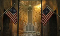 Empire State Building lobby is a great place to go on a trip to NYC