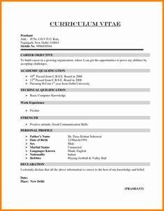 Objective for Resume for Freshers . Objective for Resume for Freshers . Elegant Freshers Objective In Resume Basic Resume Format, Latest Resume Format, Professional Resume Format, Resume Pdf, Job Resume Template, Sample Resume, Cv Template, Cv Format For Job, Professional Profile