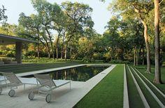Landscape design by Reed Hilderbrand - Philip Johnson's Monumental Beck House