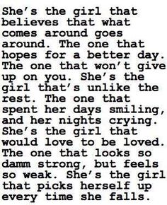 She's the girl...
