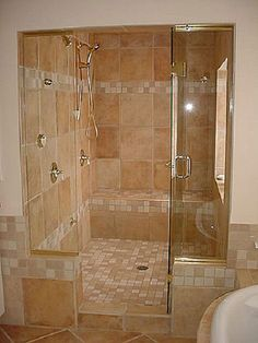 Tips In Making Bathroom Shower Designs : Luxury Master Bathroom Shower Ideas