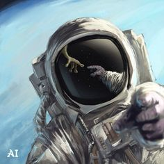 Most popular tags for this image include: alien, space, astronaut and art Astronaut Drawing, Astronaut Tattoo, Astronaut Wallpaper, Space Artwork, Psy Art, Astronauts In Space, Alien Art, Space And Astronomy, Science Fiction Art