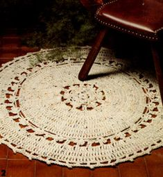 NEW! Round Rug crochet pattern from Gift Ideas & Great Ideas, Leaflet No. 2633.