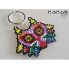 Majora's mask keyring hama mini beads by pekapekosa