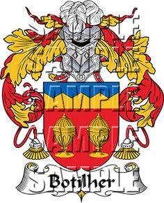 Botilher Family Crest apparel, Botilher Coat of Arms gifts