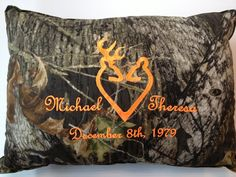 Personalized Couple or Wedding camo and deer pillow from urnstyle on Etsy.A few of my favorite things. Camo Wedding, Tree Wedding, Wedding Gifts, Our Wedding, Wedding Set, Wedding Stuff, Hunting Wedding, Spring Wedding, Rustic Wedding