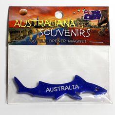 Shark Fridge Magnet, Bottle-Opener   MASH-BLUE