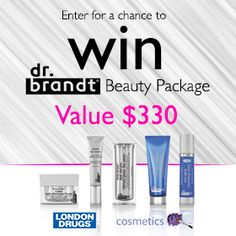 Enter for a chance to win a Dr. Brandt Beauty Package (value $330)