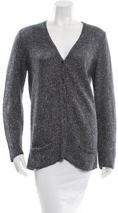 Marc Jacobs Metallic V-Neck Cardigan Women's V Neck Sweaters, V Neck Cardigan, Marc Jacobs, Metallic, Men Sweater, Pullover, Stylish, Tops, Fashion