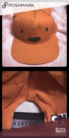 Grizzly Hat - We Bare Bears (Cartoon Network) Super cute bear hat. It is of the character Grizzly from the Cartoon Network show, We Bare Bears. Amazing condition. Worn once. Accessories Hats