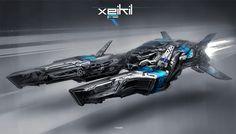 mccoy_02+jon+mccoy+art+futuristic+scott+robertson+spaceship+concept+hovercraft+speeder+cruiser+racer+space+craft+fzero+f-zero+1.jpg (1600×914)