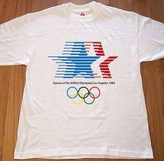 57514e6c7d3f Retro Los Angeles Summer Olympics 1984 Logo T Shirt New Size Small Medium  Large XL XXL