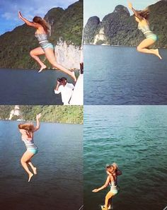 Taking the plunge! Beyonce embraced adventure on Wednesday, Jan. 14, sharing a series of photos in which she jumped off her yacht into the ocean.