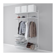 IKEA - ALGOT, Wall upright/rod/shoe organizer, The parts in the ALGOT series can be combined in many different ways and easily adapted to… Ikea Algot, Shoe Organizer Ikea, Shoe Organiser, Modular Storage, Ikea Storage, Shoe Storage, Ikea Bedroom, Bedroom Storage, Diy Furniture