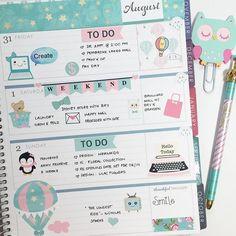 #twolilbees Cute Planner, Planner Layout, Planner Pages, Happy Planner, Planner Stickers, Planner Ideas, Planner Decorating, Erin Condren Life Planner, Planner Organization