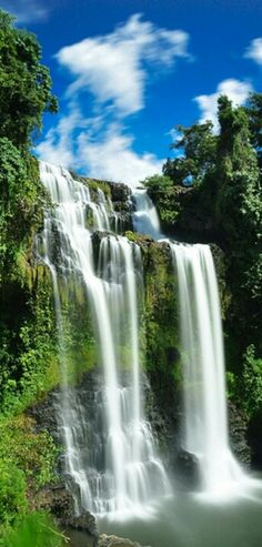 Pouring down waterfall in Sivas Province in Turkey