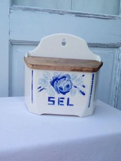 A vintage French box for salt, very common in French households, still used…