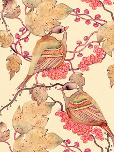 When the days are short & the nights are long, a bird illustration by Colleen Parker
