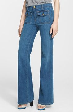 Current/Elliott 'The Dixie' Wide Leg Jeans available at #Nordstrom.  I see these in MY future