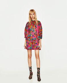 ZARA - TRF - SHORT FLORAL PRINT DRESS