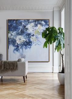 CZ Art Design - Hand painted Large Floral Oil Painting on canvas, Abstract art. @CelineZiangArt