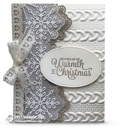 ONLINE CLASS & VIDEO: How to make a stunning sparkly Snowflake Card | Stampin Up Demonstrator - Tami White - Stamp With Tami Crafting and Card-Making Stampin Up blog