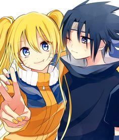 Naruko (genderbent Naruto) x Sasuke.. if Naruto were a girl and NaruHina/SasuSaku weren't canon, I'd totally be shipping them