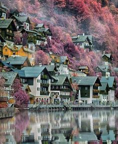Like a painting ~ Hallstatt, Austria Photo: Congrats! - Best Places to Visit X Places Around The World, The Places Youll Go, Travel Around The World, Places To See, Wonderful Places, Beautiful Places, Places To Travel, Travel Destinations, Austria Travel