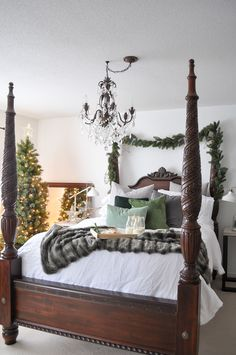 Life Is A Party Christmas Bedroom Styling