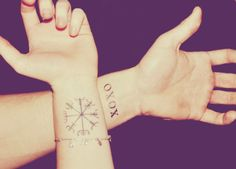 The left one is a Vegvisir, a symbol from Iceland, guiding you through the deepest storms.    i reallly want a vegivisir
