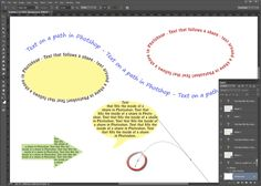 "Put Text on a Path or in a Shape in Photoshop: Text on a Path and in a Shape in Photoshop | <a href=""http://0.tqn.com/d/graphicssoft/1/0/6/J/6/cstextonapath.png"">View Larger</a>"
