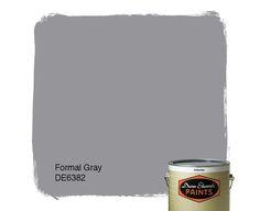 Dunn-Edwards Paints paint color: Formal Gray DE6382   Click for a free color sample