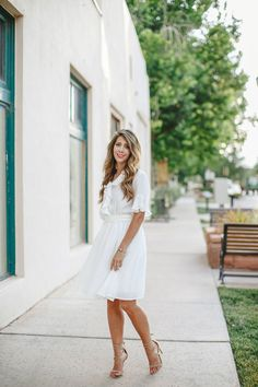 Little White Dress | how to style a white dress | how to wear a white dress | white dress style tips | summer fashion | summer style | summer outfit ideas | outfit ideas for summer | fashion tips for summer | style ideas for summer | warm weather fashion