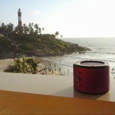#Minirig on holiday #Kerala #lighthouse #beach #nomorecables