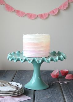 Cake It Pretty: How To Make Watercolor Cakes via Bird's Party