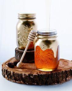 Make some gilded honey jars. I 23 DIY Ways To Fake It Til You Make It