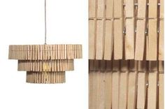 The Rustic, Recycled Clothespin Chandelier by Mesila Studio #design trendhunter.com