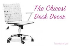 Time to spruce up those work spaces ladies!