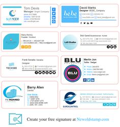 Professional and beautiful email signatures