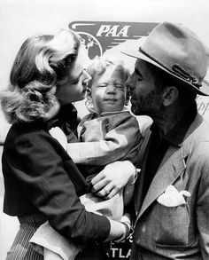 Lauren Bacall, Stephen and Humphrey Bogart