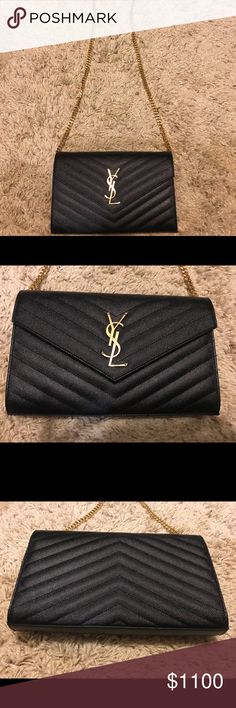 Ysl wallet on chain Used once, comes with dustbag Item is cross posted! Saint Laurent Bags Wallets