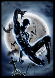 Original Pencil Symbiote Spider-manby PJBhavsar Ink and Colored by Me. Symbiote Spider-man Re-Colored Marvel Comics, Marvel Heroes, Marvel Characters, Marvel Avengers, Captain Marvel, Black Spiderman, Spiderman Art, Amazing Spiderman, Spiderman Symbiote