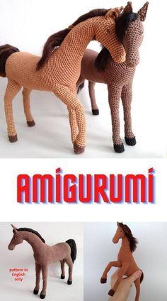 Crochet Sheep Free Pattern, Crochet Baby Cardigan Free Pattern, Doll Amigurumi Free Pattern, Crochet Animal Amigurumi, Crochet Dolls Free Patterns, Knitted Animals, Free Crochet, Poney Crochet, Crochet Horse