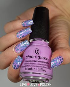 Triangle reciprocal gradient and a new nail polish shop by simplynailogical